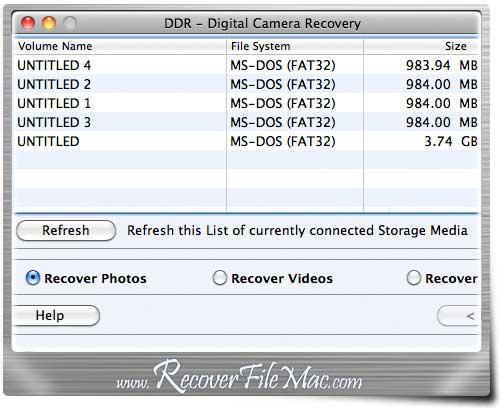 Recover Camera File Mac tool restore photos