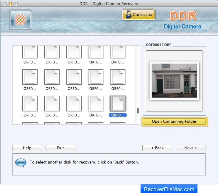 Recover File Mac - Digital Camera Recovery Software restores